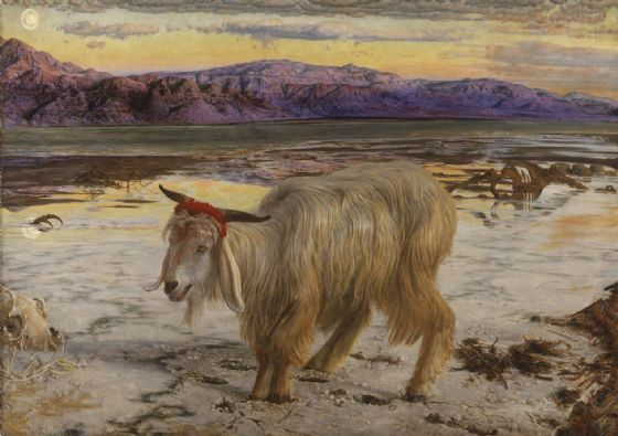 Hunt, William Holman: The Scapegoat, 1854. Fine Art Print/Poster. Sizes: A4/A3/A2/A1 (00486)